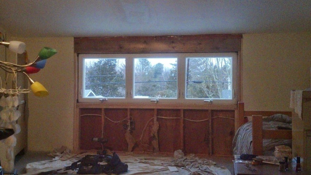 interior of home windows installation